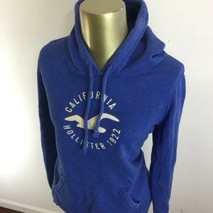 HOLLISTER Graphic Print Long Sleeve Blue Hooded